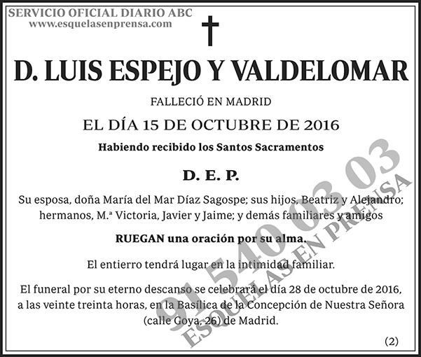 Luis Espejo y Valdelomar
